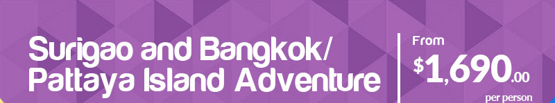 Surigao and Bangkok/Pattaya Island Adventure From $1,690